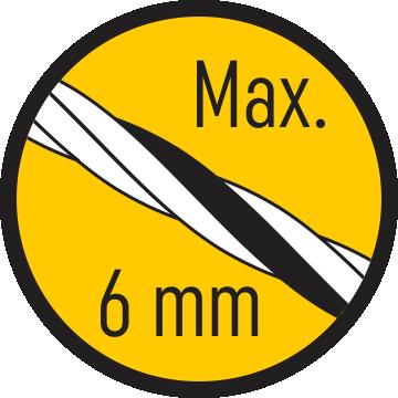 Zsinór max. 6 mm